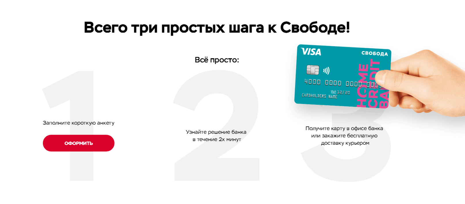 Хоум Кредит Свобода - карта рассрочки на все покупки