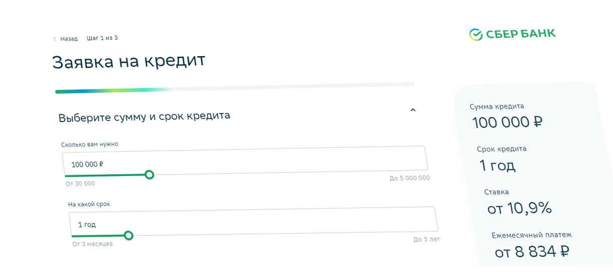 Заявка на кредит в Сбер Банке